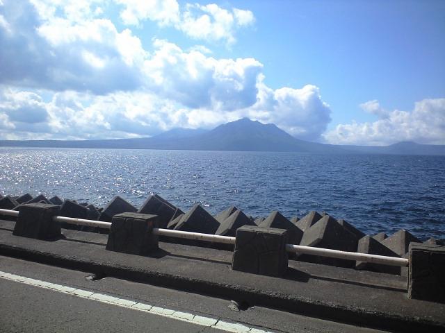 夏の支笏湖線・・・