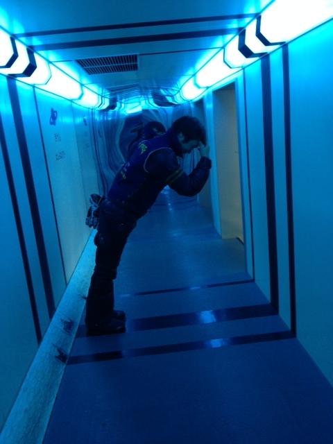 余市の道の駅にて・・・無重力の佐藤君です☆ 笑