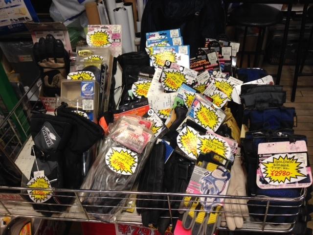 今日から「グローブワゴンセール」実施中!!とにかく安いデスヨー!!