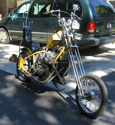 あぁ・・・めっちゃ気になるバイク。AMEN製フレームのチョッパーCB750ヤバいよね!